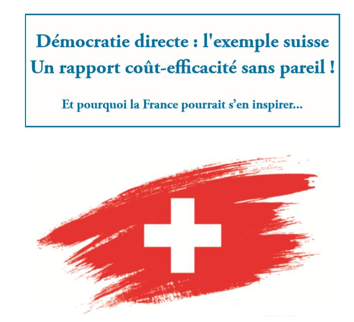 Etude n°37 : Démocratie directe : l'exemple suisse, Un rapport coût-efficacité sans pareil ! Image